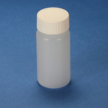 20mL Scintillation Vial,  HDPE, with Separate White Screw Cap, 1000/CS