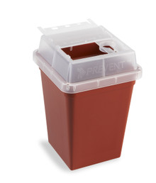 Sharps Containers, 4.5 x 4.5 x 7.5 in, 18/PK