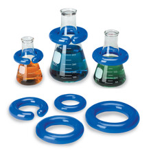 "Clearly Safe®  Vinyl-Coated Lead Rings (""C"" shape) for flasks"