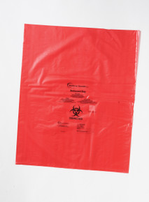 Biohazard Disposal Bags 25x33 inch, 1.57mil thick, 500/CS