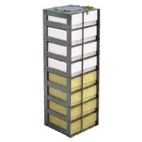 "Vertical Rack for Chest Freezer 2"" Boxes, capacity 4 boxes 8 15/16 x 5 5/8 x 5 1/2, 1/EA"