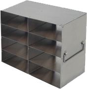 Freezer Rack UFHT-24 for 100 placed hinged lid plastic freezer boxes