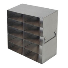Argos ten box stainless steel freezer rack for two inch boxes five boxes high by two boxes deep