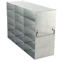 Freezer rack for large two inch plastic freezer boxes