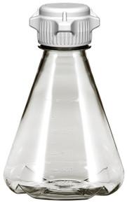 Laboratory Flask, PC, 1L, Baffled Base, 53mm Versacap Vented, Sterilized 6/CS