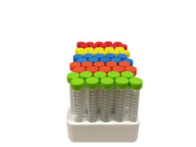 iTubes™ 15mL Conical Tubes. RNase/DNase free, STERILE, Foam Racked, 500/CS