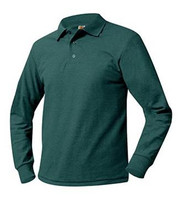 Long Sleeve Youth Polo Shirt (Pique)