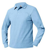 Unisex Long Sleeve Polo Pique