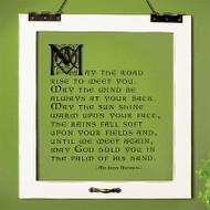 """""""Irish Blessing"""" Window Pane Print"""