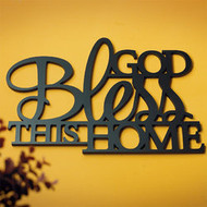 """God Bless This Home"" Wall Word Hanging"