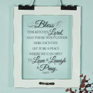 """Bless This Kitchen"" Window Pane Print"