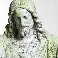 """Jesus Sacred Heart Blessing 60""""H - Fiber Stone"""