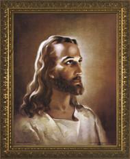 HEAD OF CHRIST  - STANDARD GOLD FRAME