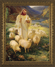 GOOD SHEPHERD - GOLD FRAME