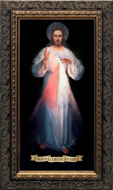 DIVINE MERCY VILNIUS (ORIGINAL) - ORNATE DARK FRAME