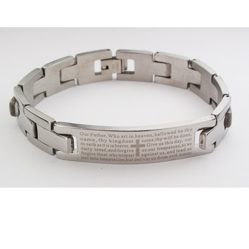 MEN'S STAINLESS OUR FATHER BRACELET BR888