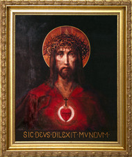 FOR GOD SO LOVED THE WORLD - STANDARD GOLD FRAME