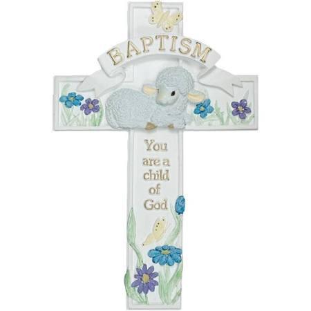 Lamb Baptism Wall Cross