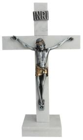 "Corian 6"" Standing Crucifix (two tone corpus)"