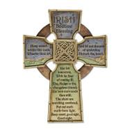 Irish Bedtime Blessing Wall Cross