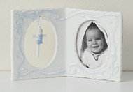 Boy Baby Frame With Cross