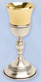 Gold and Silver Plated Chalice K923