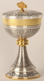 Gold Plated and Oxidized Silver Ciborium K914