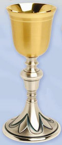 Gold Plated & Oxidized Silver Chalice K926