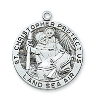 ST. CHRISTOPHER MEDAL L420CH