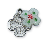 4-WAY MEDAL WITH CLOISONNE PENDANT COVER L4LCS