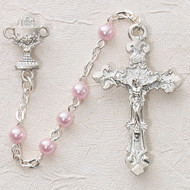 ROSARY PINK PEARL COMMUNION STERLING SILVER CHALICE‹¯¨