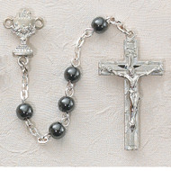 ROSARY HEMATITE STERLING SILVER CHALICE C13LB