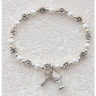 White Pearl Stretch Bracelet 273