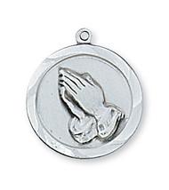 PRAYING HANDS MEDAL L373