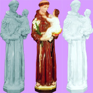 """ST. ANTHONY & CHILD OUTDOOR STATUE  24"""""""