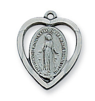 MIRACULOUS MEDAL PEWTER ANTIQUE SILVER AN426MI