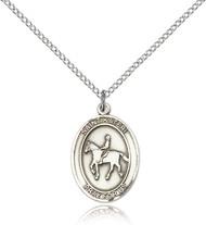 St. Kateri Sterling Silver Medal 8182-bliss