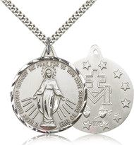 Miraculous Medal Sterling Silver 0203M-bliss
