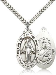 Scapular Medal Sterling Silver 4145-bliss