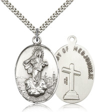 Our Lady of Medjugorje Sterling Silver Medal 5679-bliss