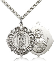 Our Lady of Guadalupe Sterling Silver Medal 4227-bliss