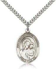 Our Lady of Good Counsel Sterling Silver Medal 7287-bliss