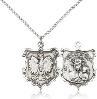 Our Lady of Czestochowa Sterling Silver Medal 6094-bliss