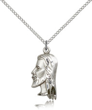 Christ Sterling Silver Medal 4215-bliss