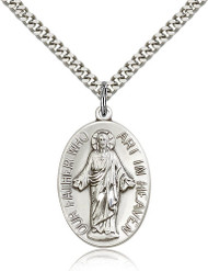 Our Father Who Art in Heaven Sterling Silver Medal 4216-bliss