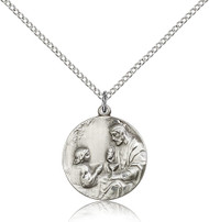Christ Sterling Silver Medal 4202-bliss