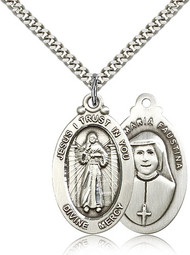 Divine Mercy Sterling Silver Medal 4145-bliss