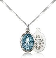 Blue Miraculous Medal 0612EM-bliss