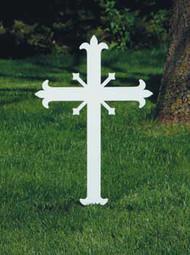Fleur-de-lis Memorial Cross K4057