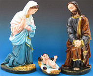 Outdoor Nativity Mary & Joseph (baby Jesus not included)